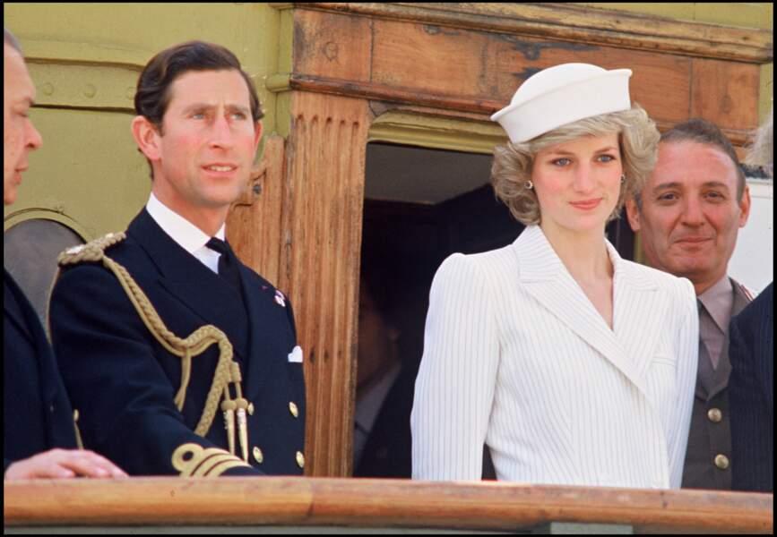 Le prince Charles et la princesse Diana en visite en Italie, le 18 avril 1985