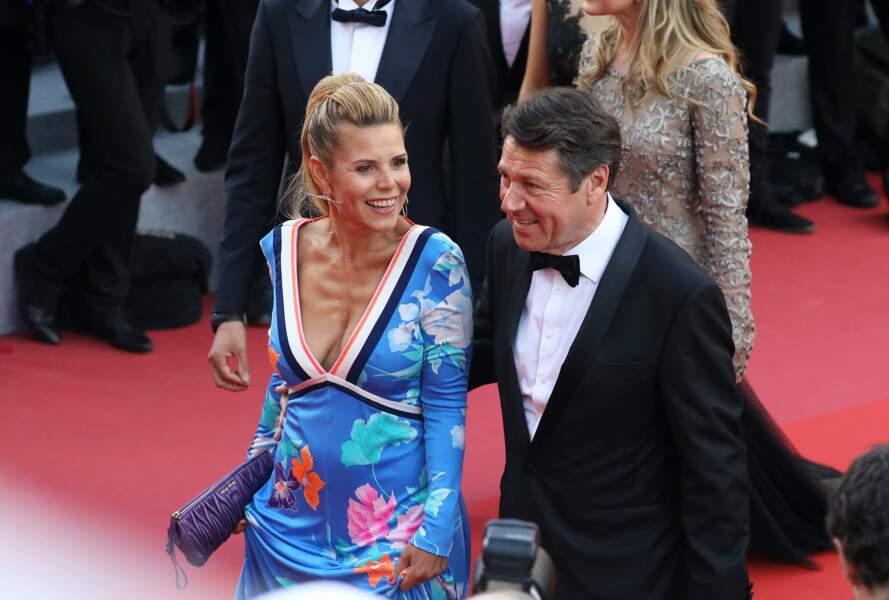 Christian Estrosi et Laura Tenoudji au Festival de Cannes en 2018