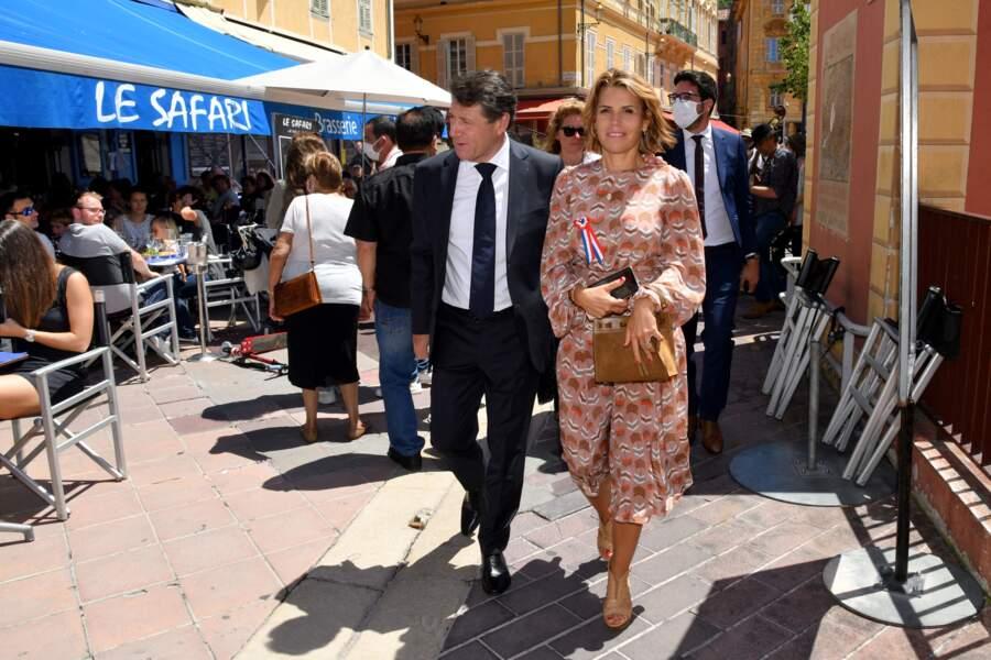 Christian Estrosi et Laura Tenoudji le 14 juin 2020