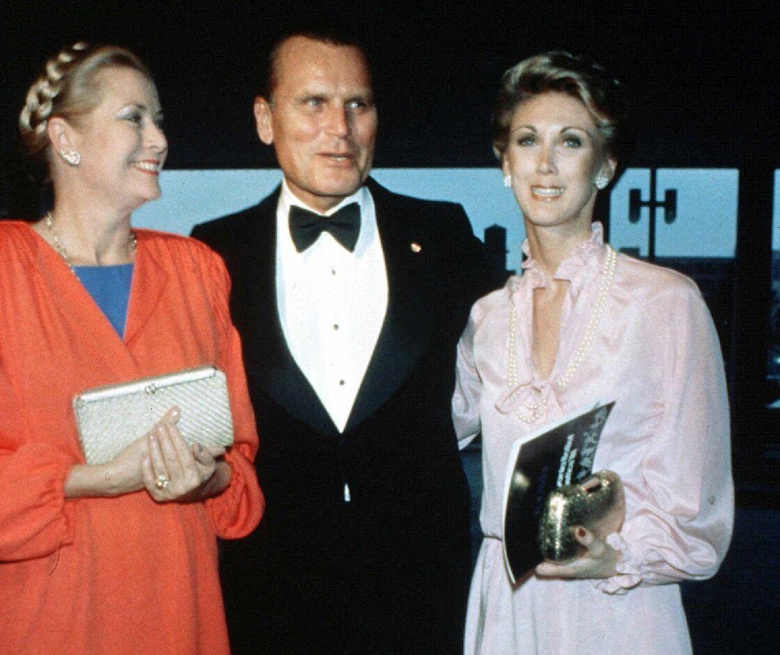 Grace de Monaco au mariage de son frère Jack B Kelly avec Sandra Worley, en 1981