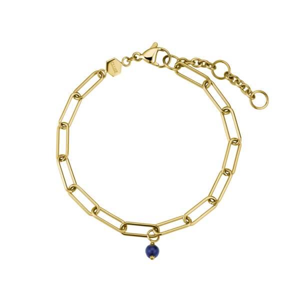 Bracelet doré,34,95€, Cluse x Iris Iris Mittenaere