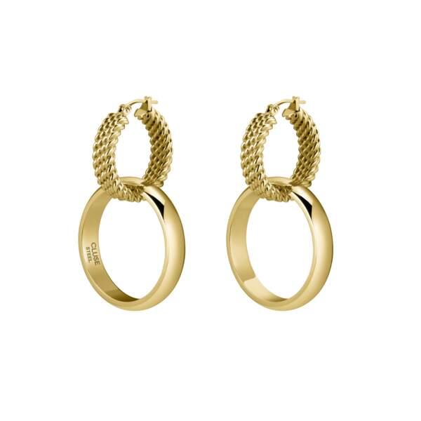 Boucles d'oreilles en or, 49,95€, Cluse x Iris Mittenaere