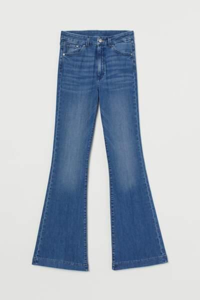 Jean flare - H&M, 40€
