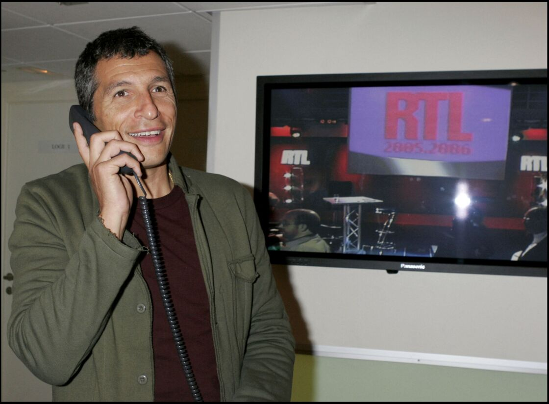 Nagui à la conférence de presse de rentrée de RTL en 2005
