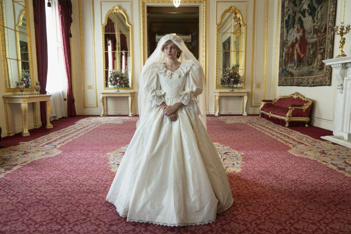 La princesse Diana, interprétée par Emma Corrin dans la saison 4 de la série The Crown de Netflix.