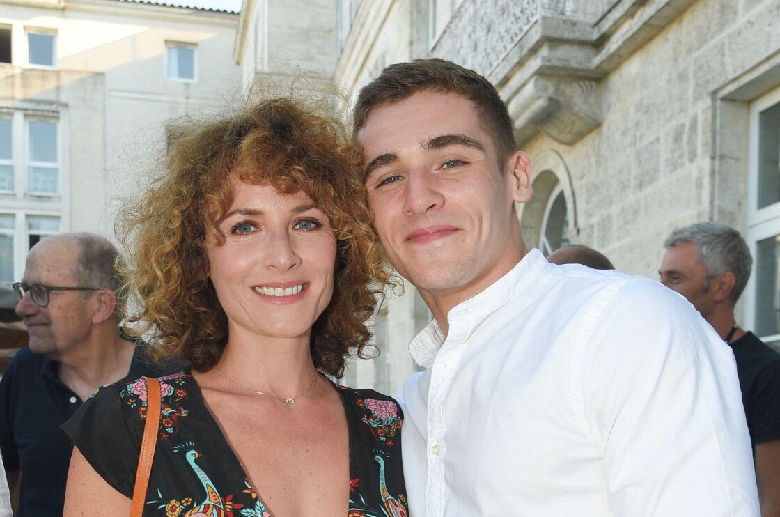 Elsa Lunghini et son fils Luigi Kröner le 21 août 2018