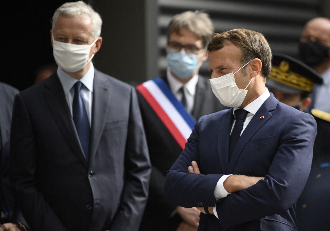 Bruno Le Maire et Emmanuel Macron le 28 août 2020