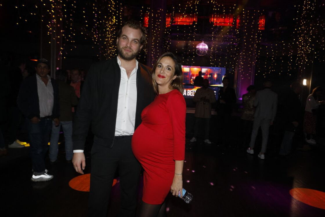 Victoria Bedos et son compagnon Romain Battisti à Paris, le 17 octobre 2019