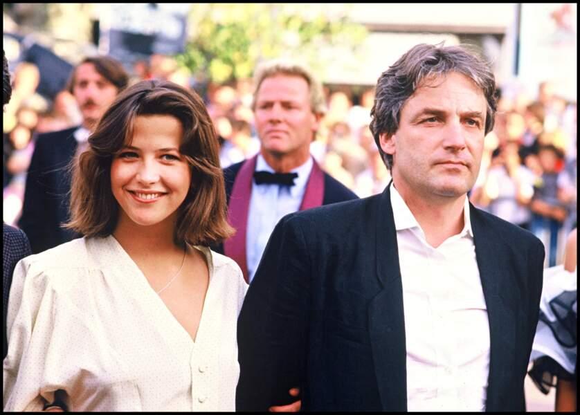 Sophie Marceau heureuse au bras d'Andrzej Zulawski au festival de Cannes en 1985.