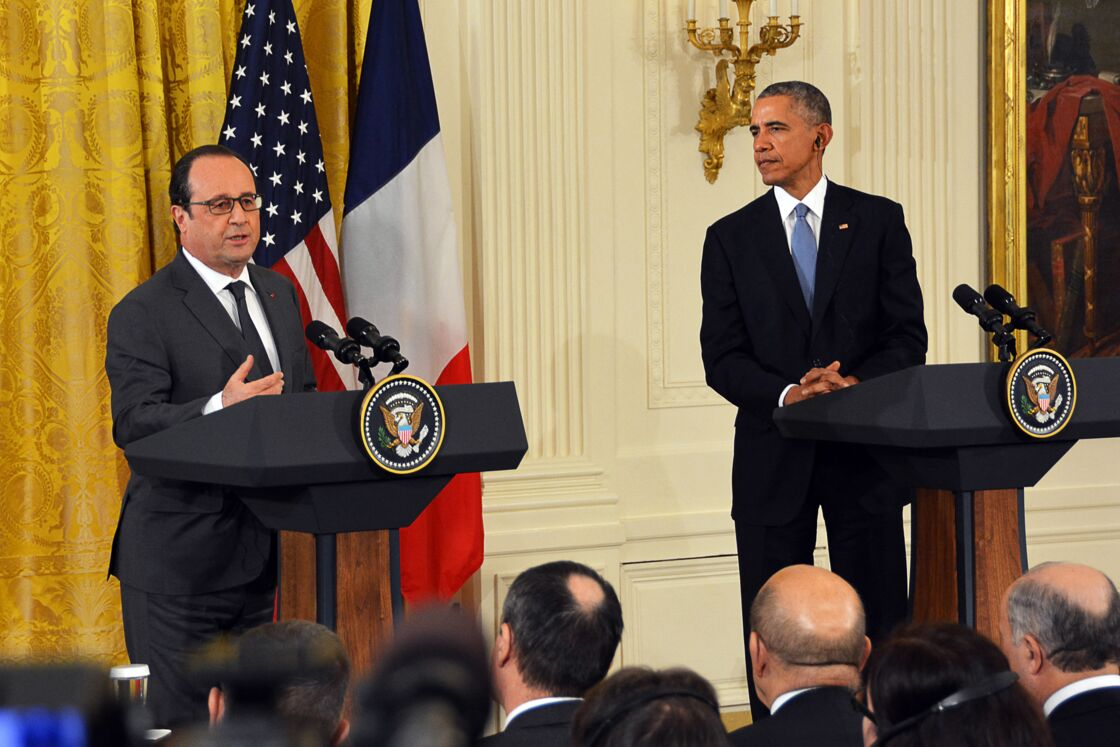 François Hollande et Barack Obama à la Maison Blanche le 24 novembre 2015