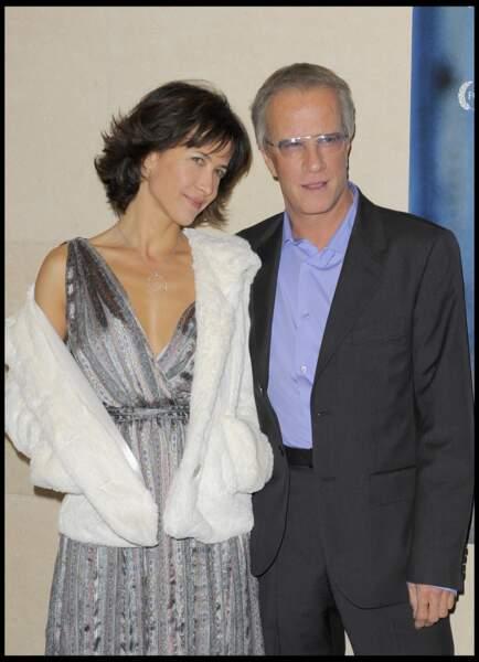 Sophie Marceau aux côtés de Christophe Lambert en 2009.