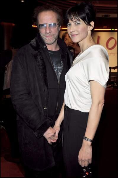 Sophie Marceau et Christophe Lambert en 2009 pour la première du film LOL.