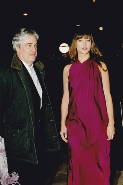 Andrzej Zulawski et Sophie Marceau à la Nuit des Césars le 6 mars 1999.
