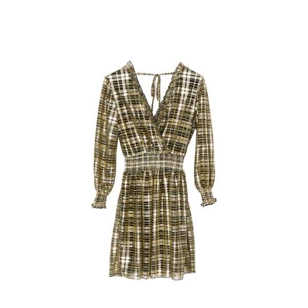 Robe courte en lurex, Imprévu Belgium, 139 €. www.imprevubelgium.com