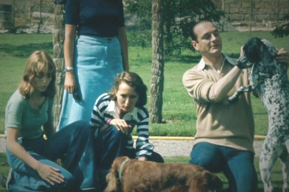 Jacques Chirac, entouré de ses deux filles Claude et Laurence.