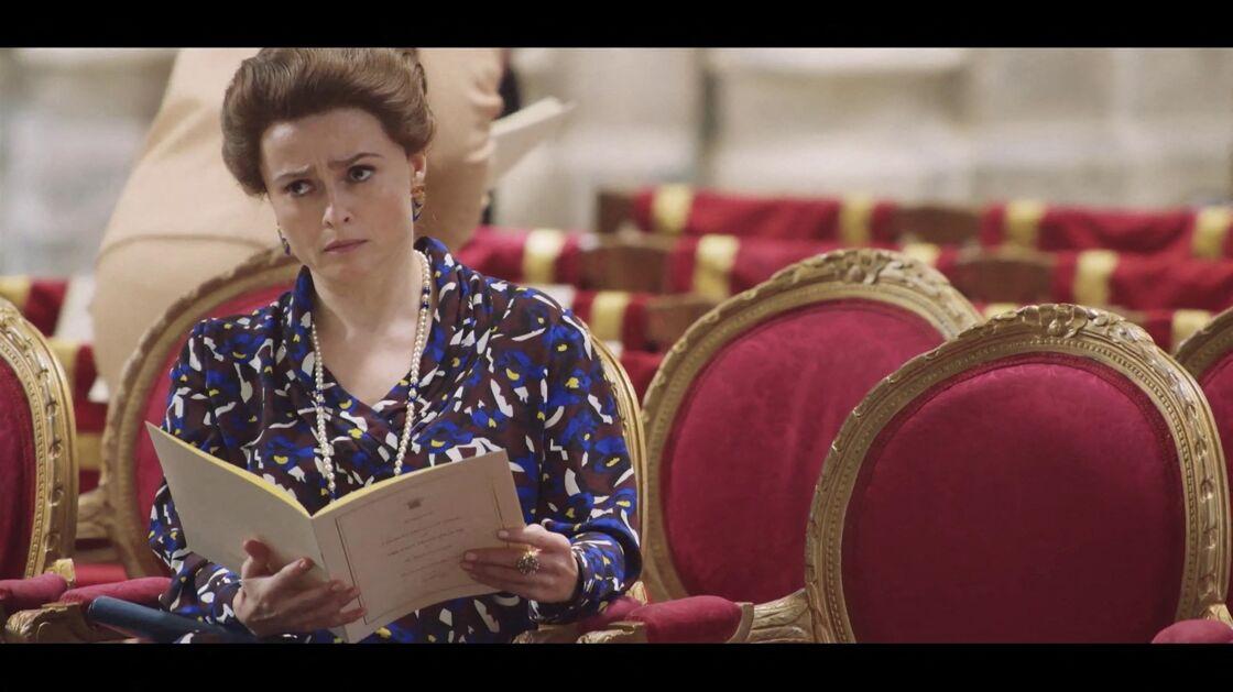 Helena Bonham Carter dans le rôle de la princesse Margaret dans la série The Crown