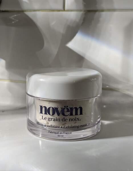 Masque Exfoliant visage à la noix, Novëm, 35€