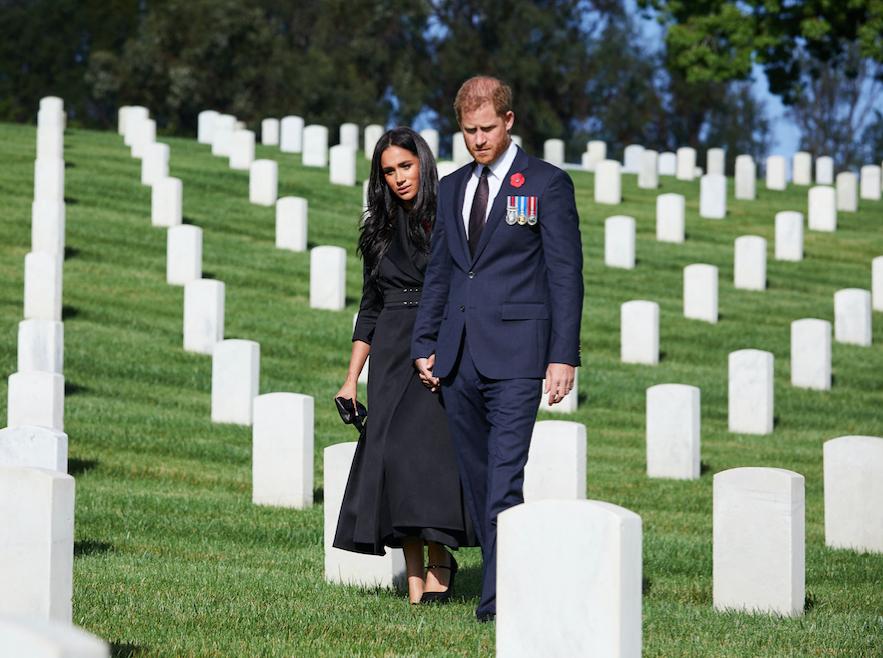 Harry et Meghan lors de la cérémonie du souvenir le 8 novembre dernier