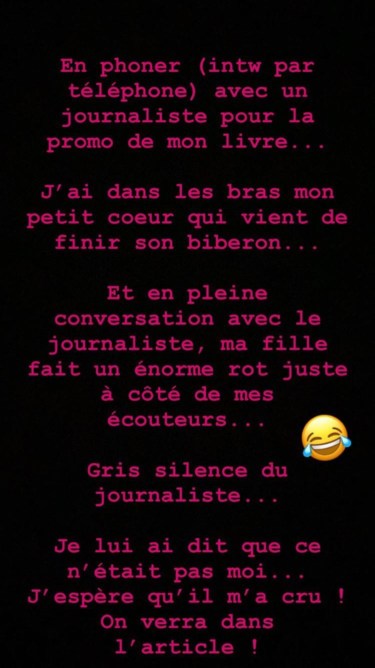Story Instagram du 17 novembre de Lorie