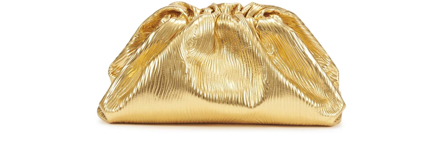 Pouch lamé, Bottega Venetta, prix sur demande, 24S.com