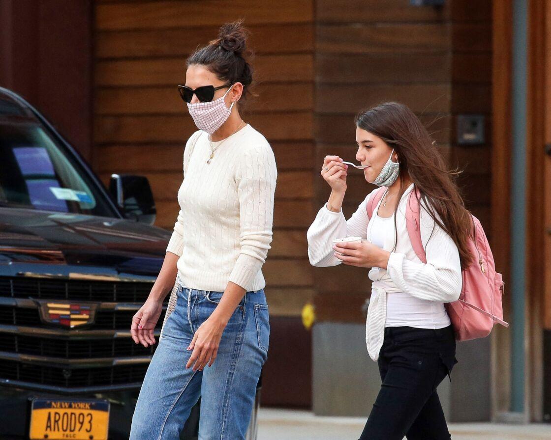 Katie Holmes et sa fille Suri à new York en septembre dernier