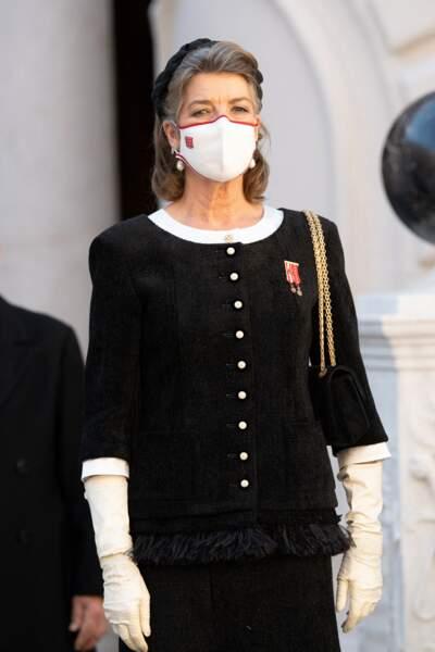 La princesse Caroline de Hanovre a assumé ses cheveux gris lors de la Fête Nationale de Monaco.