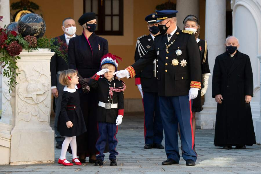 Jacques et Gabriella, les jumeaux du prince Albert II, ont également participé à la Fête Nationale de Monaco.