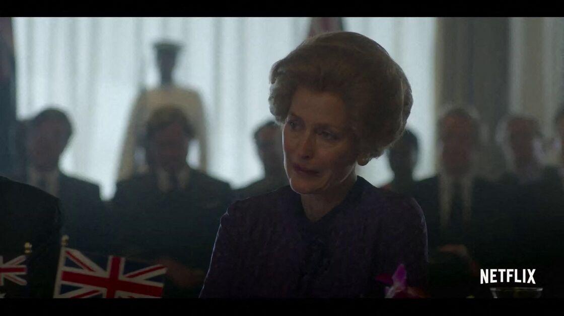 Gillian Anderson campe le rôle de Margaret Thatcher dans la quatrième saison de The Crown, disponible sur Netflix depuis ce dimanche 15 novembre