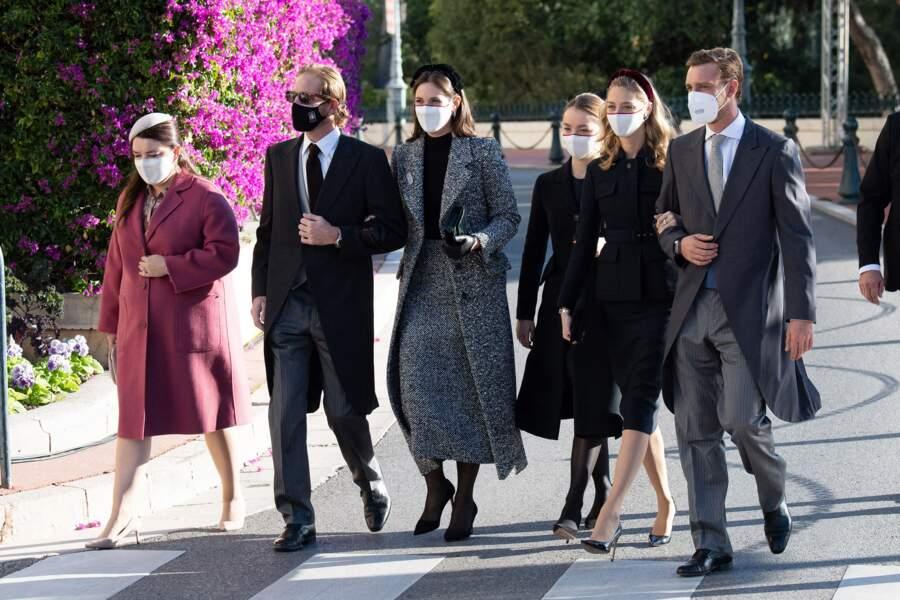 Très chic, la nouvelle génération a fait une arrivée remarquée aux abords de la cathédrale de Monaco.