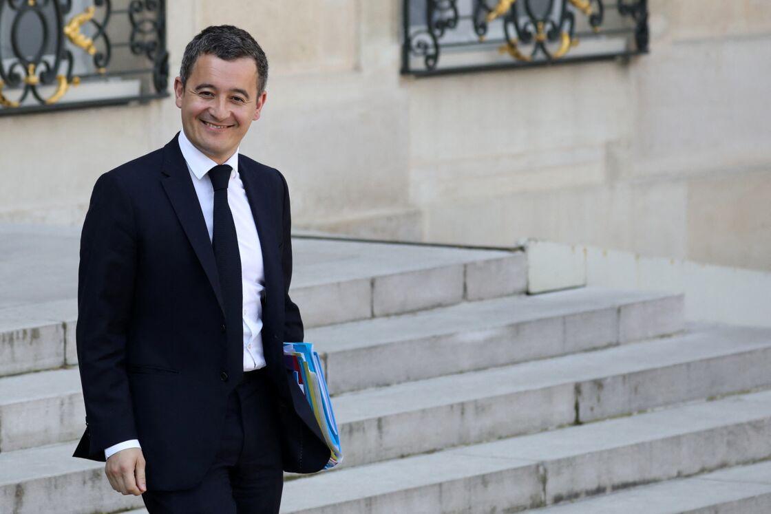 Gérald Darmanin - Sortie du conseil des ministres, cour de l'Elysée, Paris, le 1er avril 2019