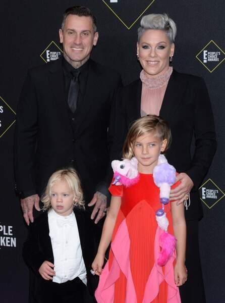 Aujourd'hui mariés, Pink et Carey Hart sont parents de deux enfants