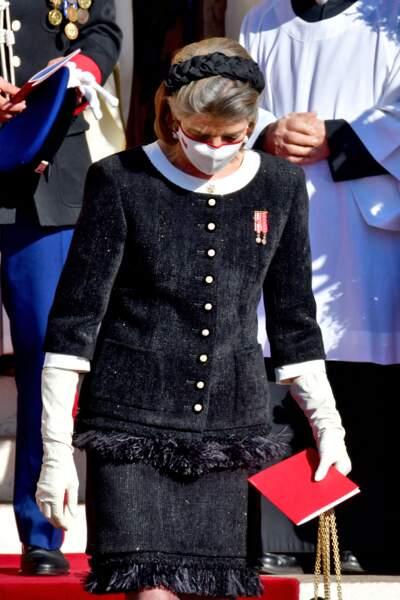 La princesse Caroline de Hanovre présentait un look très chic lors de la Fête Nationale de Monaco.