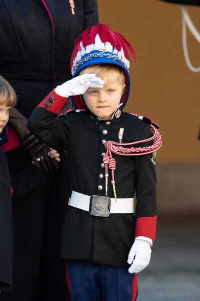 Le prince Jacques de Monaco, qui fêtera ses six ans en décembre prochain, semblait très à l'aise dans son rôle.