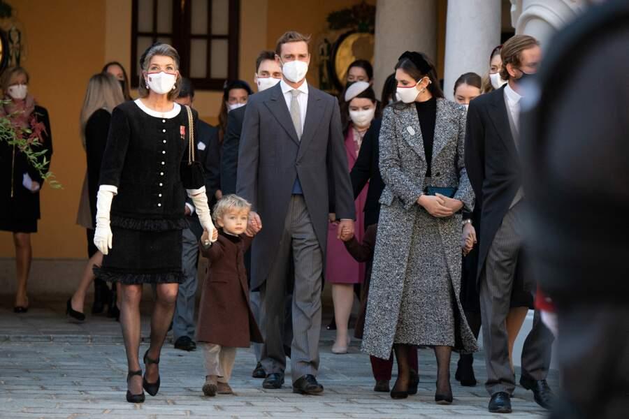 Lors de la Fête Nationale célébrée à Monaco, la princesse Caroline de Hanovre a été aperçue au côté de l'un de ses petits-fils.