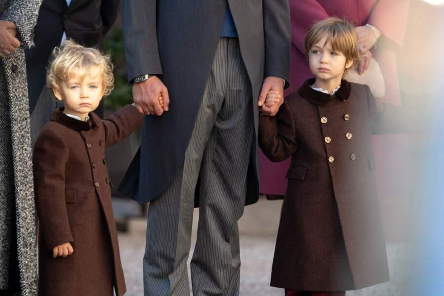 Stefano et Francesco, les deux fils de Pierre Casiraghi et Beatrice Borromeo, étaient également présents à la Fête Nationale de Monaco.