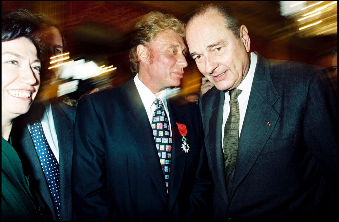 Johnny Hallyday et Jacques Chirac