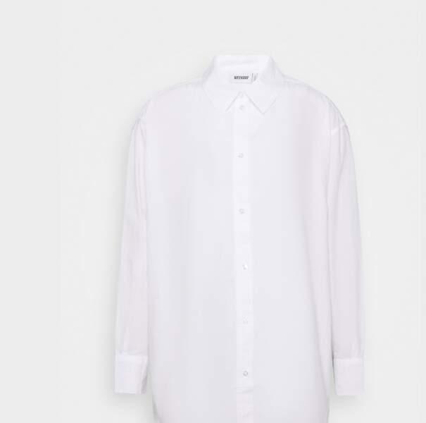 Chemise blanche, 44€, Weekday sur Zalando.fr