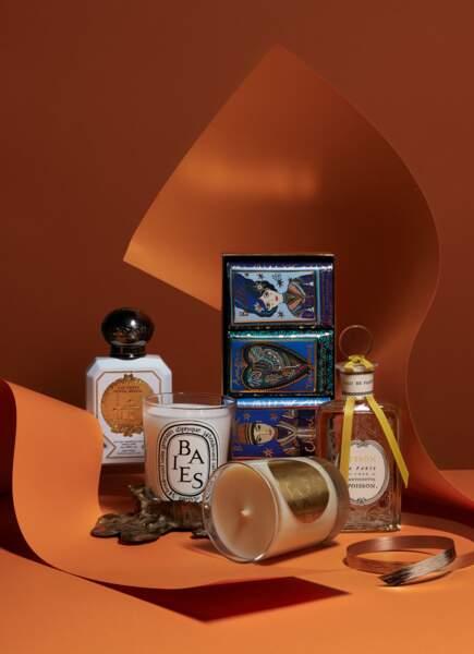 Palette de parfums
