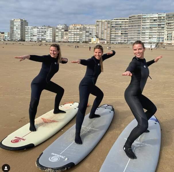 Un trio de choc à la plage