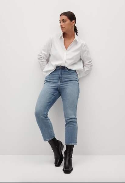 Chemise blanche grande taille, 20,99€, Violet par Mango surZalando.fr