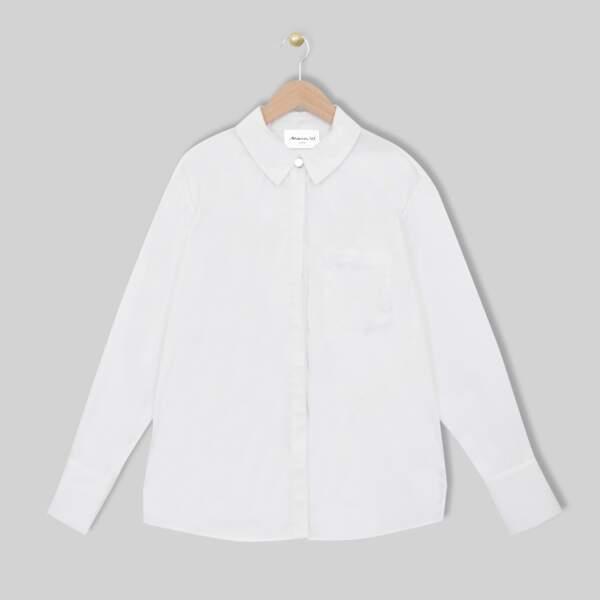Chemise blanche en coton Esmeralda, 79€, Maison 123 paris