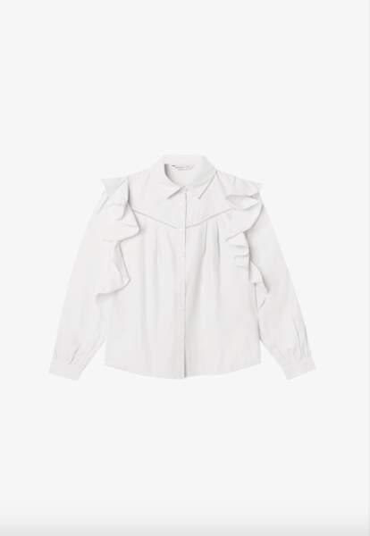 Chemise blanche, 19,99€, Stradivarius sur Zalando