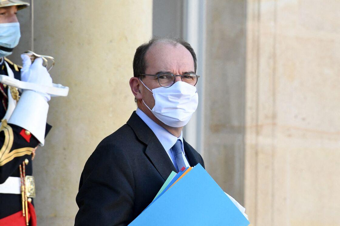 Jean Castex à la sortie du conseil des ministres du 18 novembre 2020, au palais de l'Elysée à Paris.