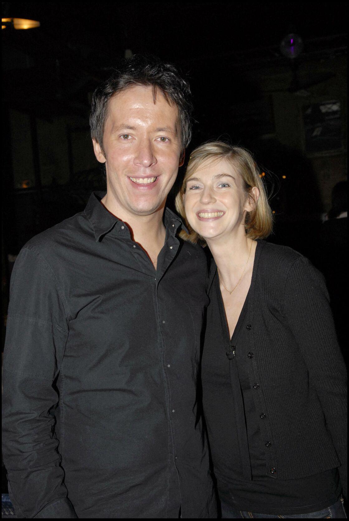Jean-Luc Lemoine et sa femme Adeline au Théâtre du Temple le 24 janvier 2007