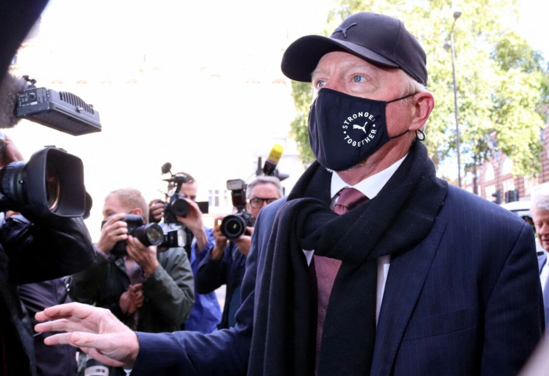 Boris Becker, à l'audience préliminaire de son affaire, avant son procès en septembre 2021.