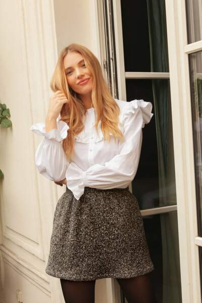 Chemise blanche les feuillantines, Made in Europe en coton biologique, 145€, Rosae
