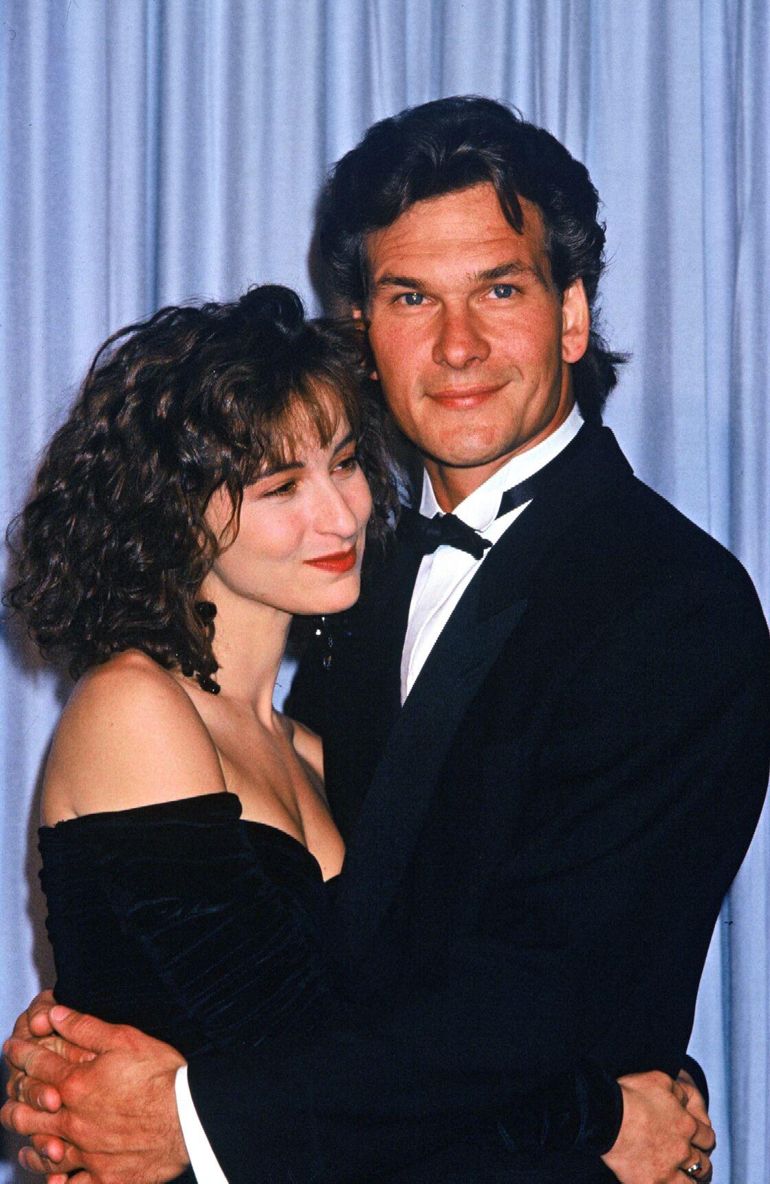 Jennifer Grey et Patrick Swayze à la cérémonie des Oscars, le 13 avril 1988.