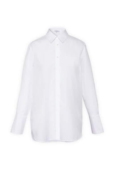 Chemise blanche en popeline de coton, 135€, Gerard darel