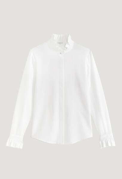 Chemise blanche fluide à co, 175€, Claudie Pierlot