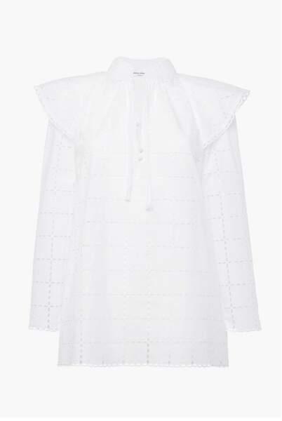 Chemise blanche en broderie anglaise, 490€, Sonia Rykiel